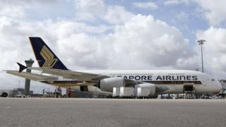 Singapore Airlines A380 plane