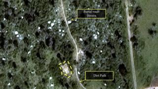 A DigitalGlobe satellite image released by Amnesty International shows what the human rights organization describes as a possible mass grave in Burundi