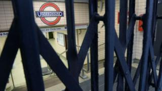 Gates closed during a recent Tube strike