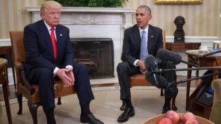 President Barack Obama and President-elect Donald Trump