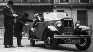 Driving instructor in 1935
