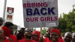 protest over Chibok girls in 2014