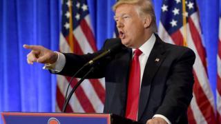Дональд Трамп на пресс-конференции