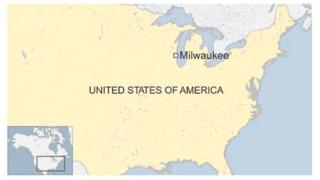 Map of Milwaukee, US