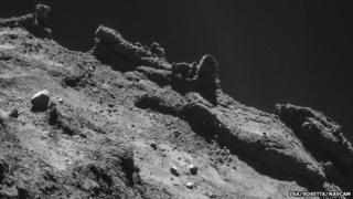 Comet 67P landscape