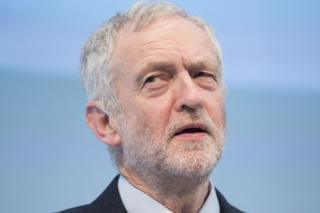 Jeremy Corbyn speaking at the CBI