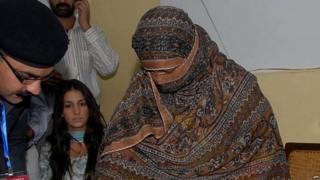 File photo of Asia Bibi at Governor's House of Punjab on November 20, 2010
