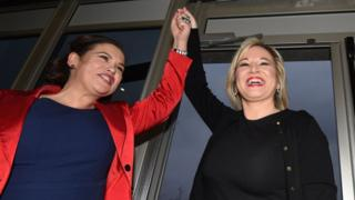 Mary-Lou McDonald and Michelle O'Neill