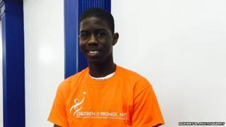 Matthew Morris, 17, an immigrant from Jamaica, is working with Children's of Promise to deal with his mental state to deal with the incarceration of his father.
