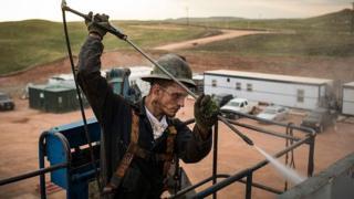 Trabajador en zona petrolera de EE.UU.