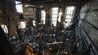 The library in the Mackintosh building was gutted in the blaze on 23 May 2014