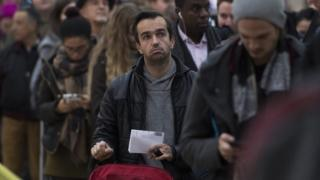 Frustrated commuter during Southern rail strike