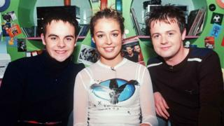 Ant, Dec and Cat Deeley