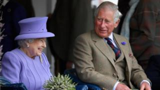 Queen Elizabeth II and Prince Charles attend an event in Scotland in September.
