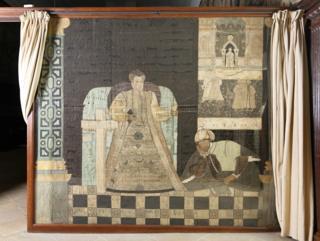 True Faith and Mahomet (silk), English School, (16th century) / Hardwick Hall, Derbyshire, UK