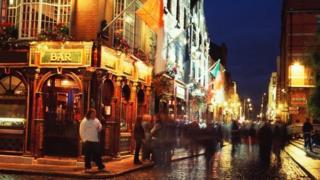 A bar in Dublin