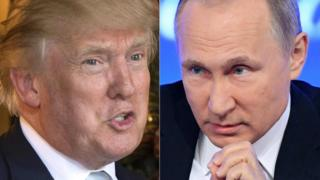 File photo of US President-elect Donald Trump (L) and Russian President Vladimir Putin