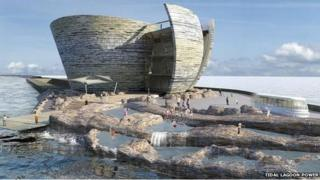 An artist's impression of the tidal lagoon