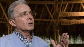 Expresidente colombiano, Álvaro Uribe