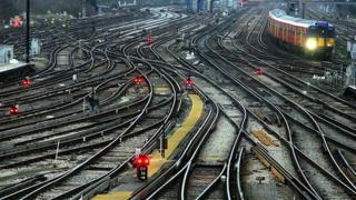 Train tracks around Clapham Junction