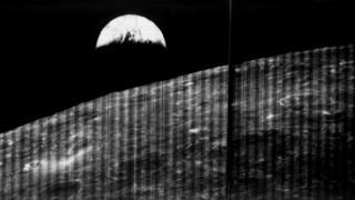 La Tierra vista desde la perspectiva de la Luna.