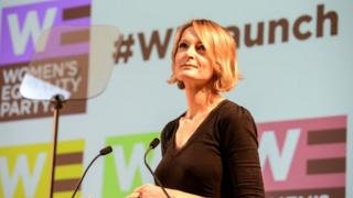 Sophie Walker speaking in London