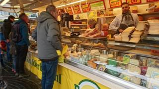 Cheese stall in Almere