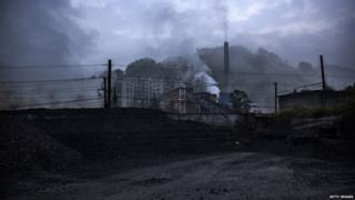 Coal-fired power station in Shixi , Sichuan province, China (March 2015)
