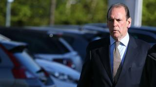 Former Merseyside Chief Constable Sir Norman Bettison arrives to give evidence at the Hillsborough inquest in Warrington, on his role on the day of the 1989 FA Cup semi-final tragedy and in gathering police evidence for the Taylor Inquiry.