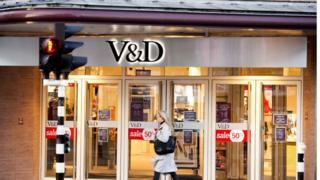 Vroom and Dreesmann shop in Haarlem, near Amsterdam, on December 23, 2015