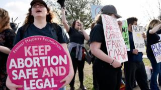 Abortion rights supporters chant pro-choice slogans during a rally outside of the Planned Parenthood South Dallas Surgical Health Services Center, Saturday morning, Feb. 11, 2017