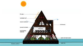 Design for Makoko floating school, Lagos, Nigeria