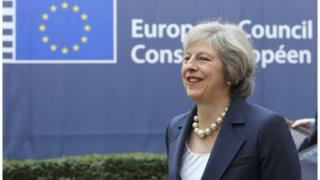 Theresa May at October's European Council summit