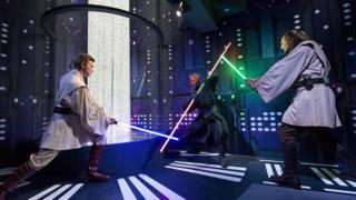 Star Wars characters Ben Kenobi, Darth Maul and Qui Gon Yin