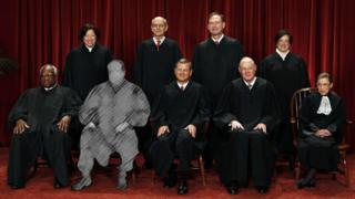 The Supreme Court portrait, with Antonin Scalia greyed out.