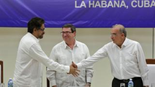 Colombian Government and Guerrillas Announce Final Peace Accord
