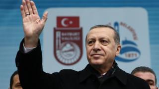 Recep Tayyip Erdogan speaking at a rally in Bayburt - 27 November