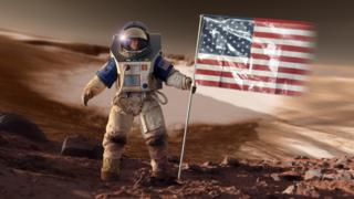 Artist's impression - Astronaut on Mars