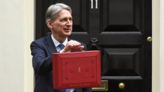 Philip Hammond with the Budget briefcase