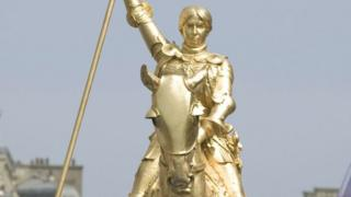 Statue of Joan of Arc in Paris