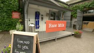 Low Sizergh Barn Farm raw milk vending machine