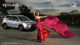 South Korean contestant Kim Sang-in strikes a pose