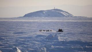 A dogsled in north-western Canada (February 2010)