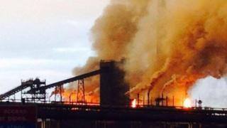 Fire at Tata Steel in Port Talbot