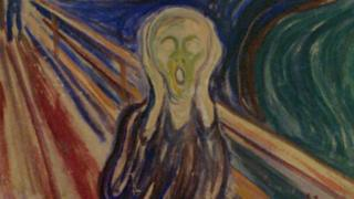 """The Scream"" by expressionist painter Edvard Munch"