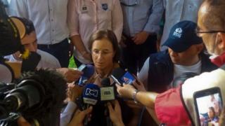 Salud Hernandez Mora in San Calixto, Colombia, after her release
