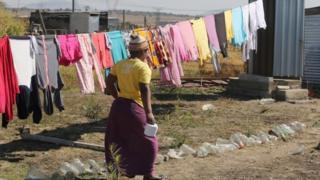 Woman in Marikana, 2016