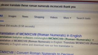 screengrab of google search