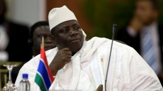 """Gambia""""s President Al Hadji Yahya Jammeh attends the plenary session of the Africa-South America Summit on Margarita Island September 27, 2009"""