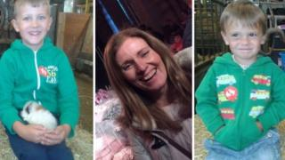 Police interest after mom vanishes with dual sons